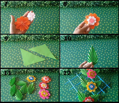 Gambar Tutorial Hiasan Dinding Cantik dari Kertas Origami 2