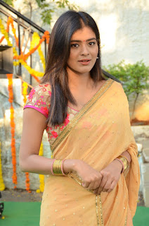 Heba Patel Stills in Half Saree at Nenu Naa Boyfriends Movie Opening