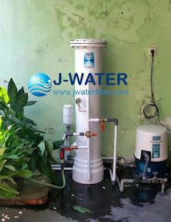 filter air keruh kuning bau besi