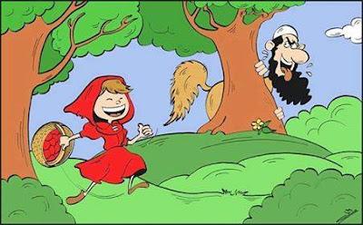 ليلى مانها مرباية قصة ليلى والذئب بلسان داعشي