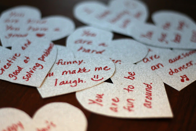 Valentine's Day lunchbox notes for kids