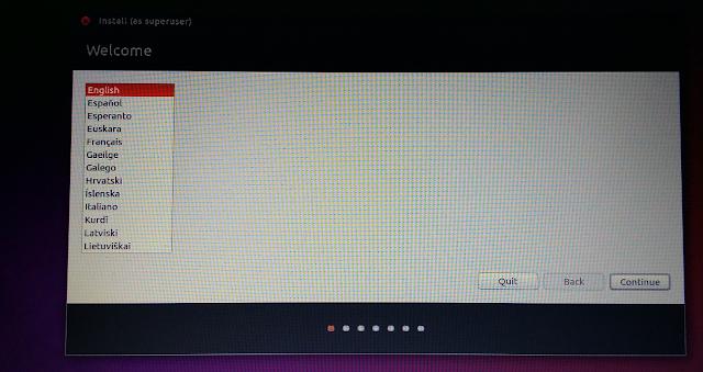 ubuntu installation language