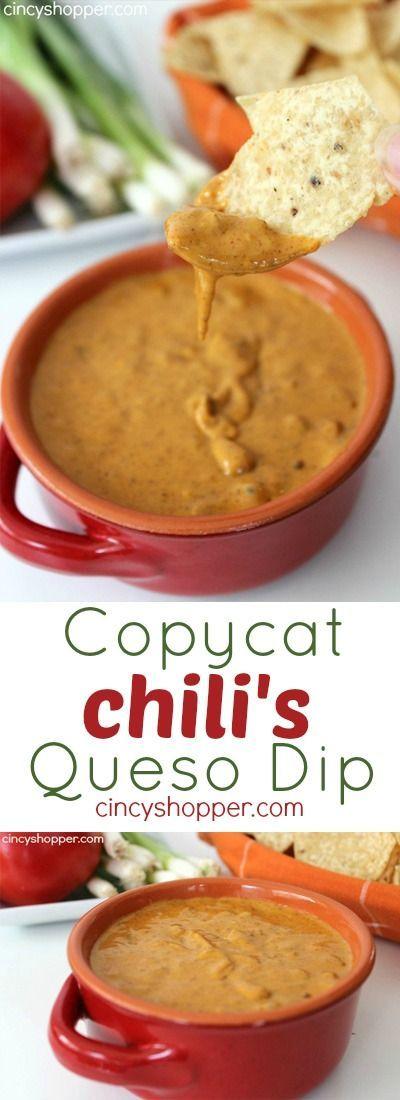 COPYCAT CHILI'S QUESO DIP RECIPE #copycat #chili #queso #dip #tasty #tastyrecipes #deliciousrecipes