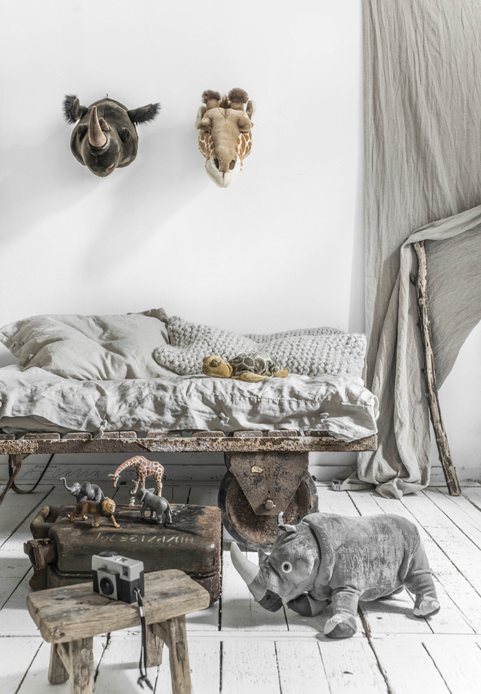 Industrial touch in kids room styling/photography © Paulina Arcklin