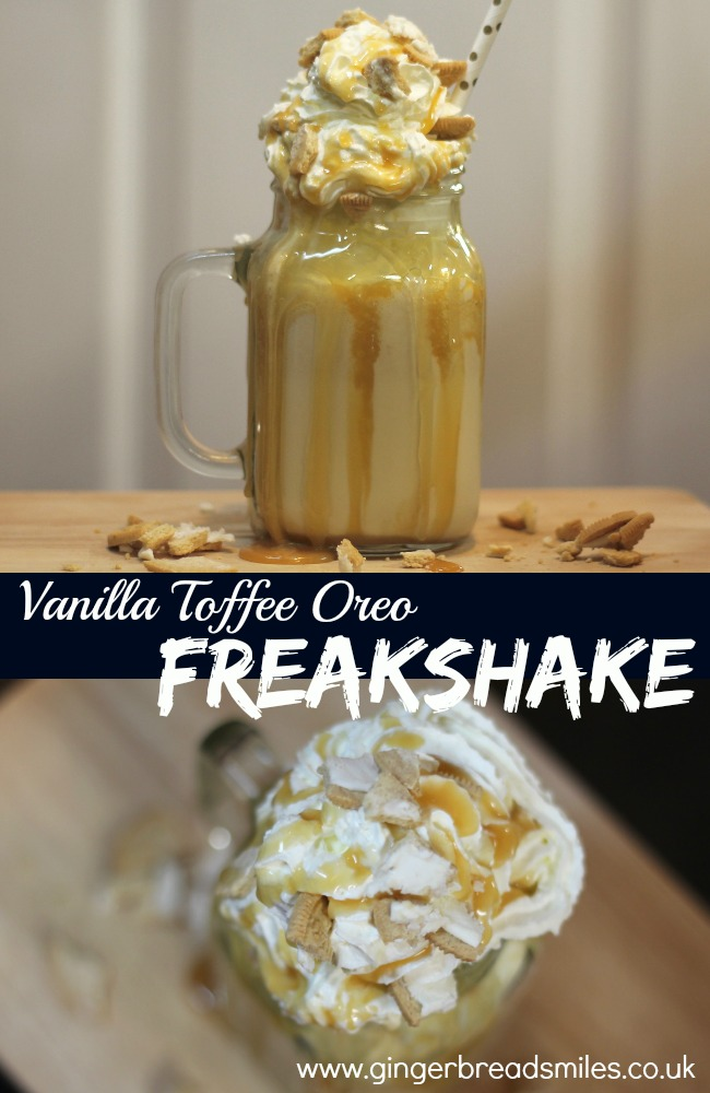 Vanilla Toffee Oreo Freakshake Recipe Milkshake