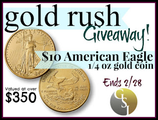 Enter the Gold Rush Giveaway. Ends 2/28