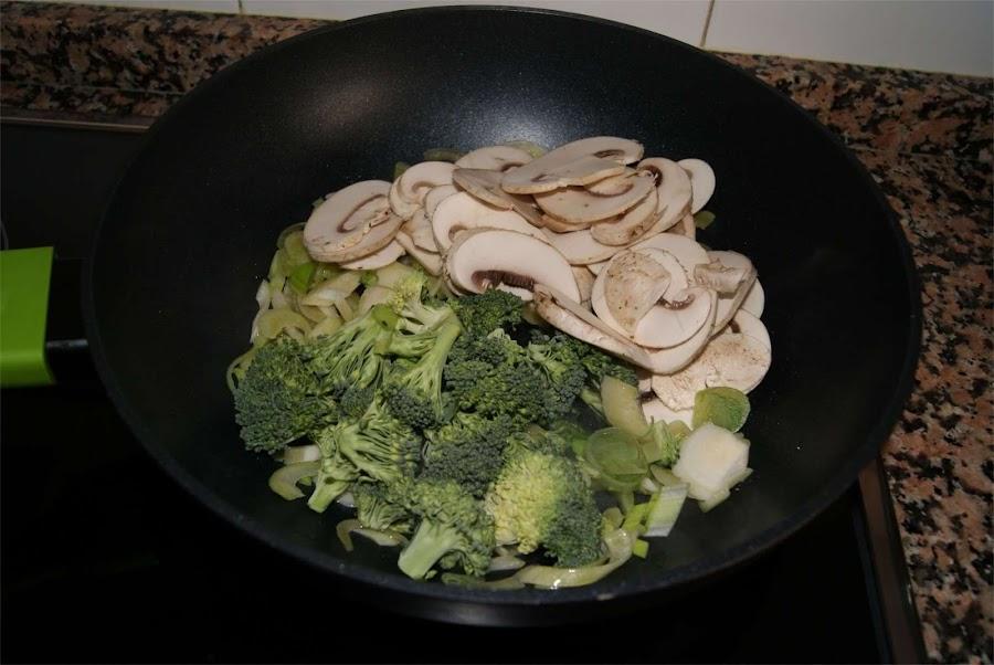 fideos de aroz con verduras paso 3