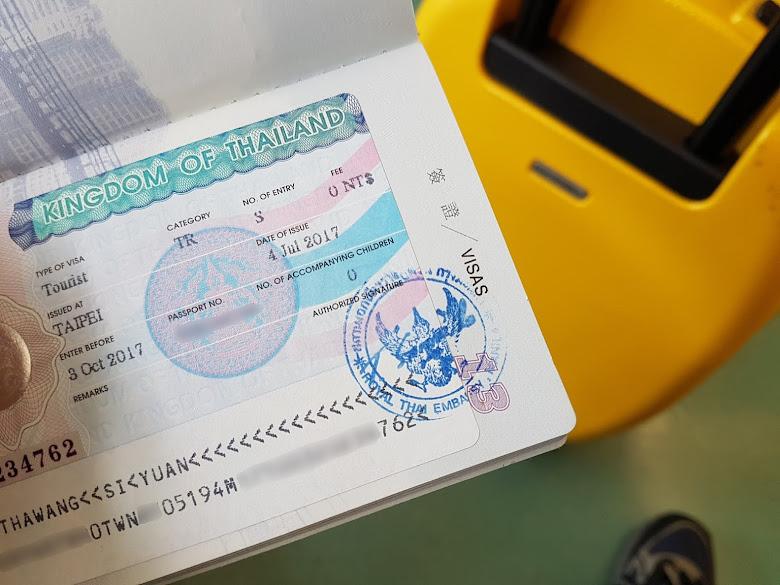 一次性的免簽證費的泰國簽證