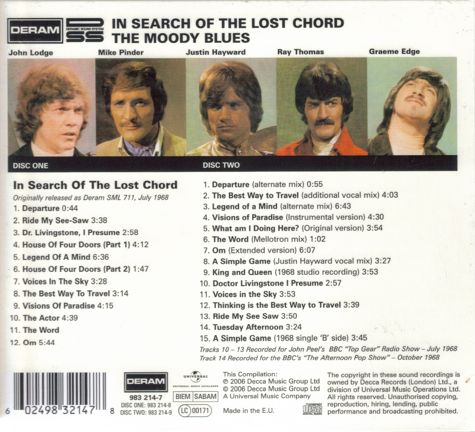 MIJAS: THE MOODY BLUES -In Search of the Lost Chord [Deluxe