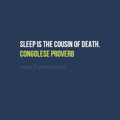Sleep is the cousin of death.