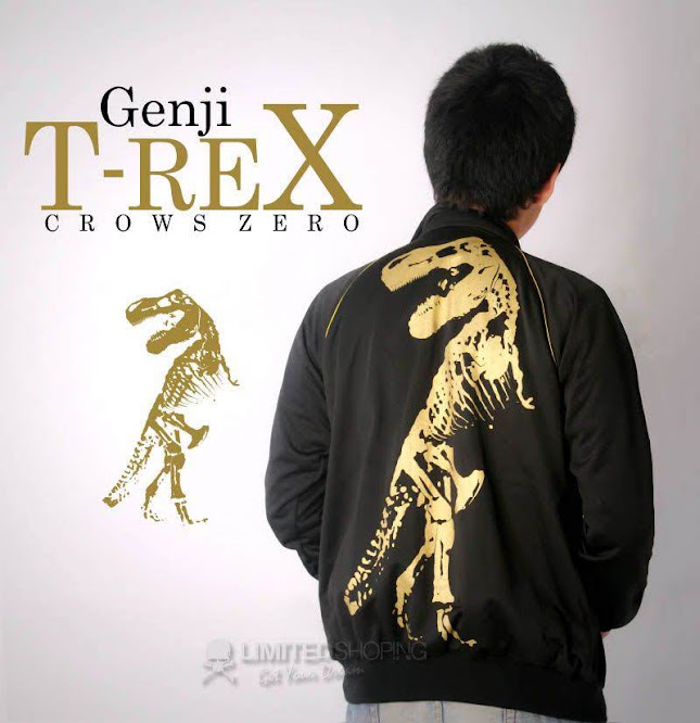 limited shoping jaket crows zero t rex