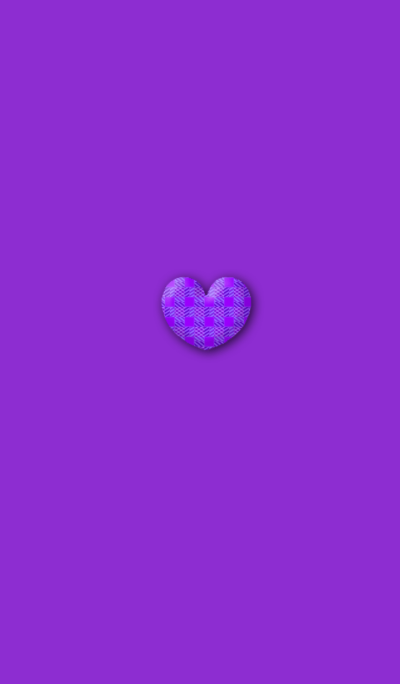 Purple check simple heart