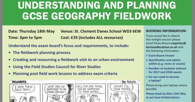 LivingGeography: Fieldwork CPD course