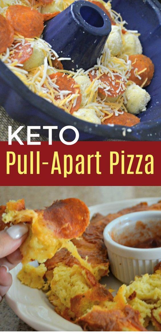 Pull-Apart Keto Pizza