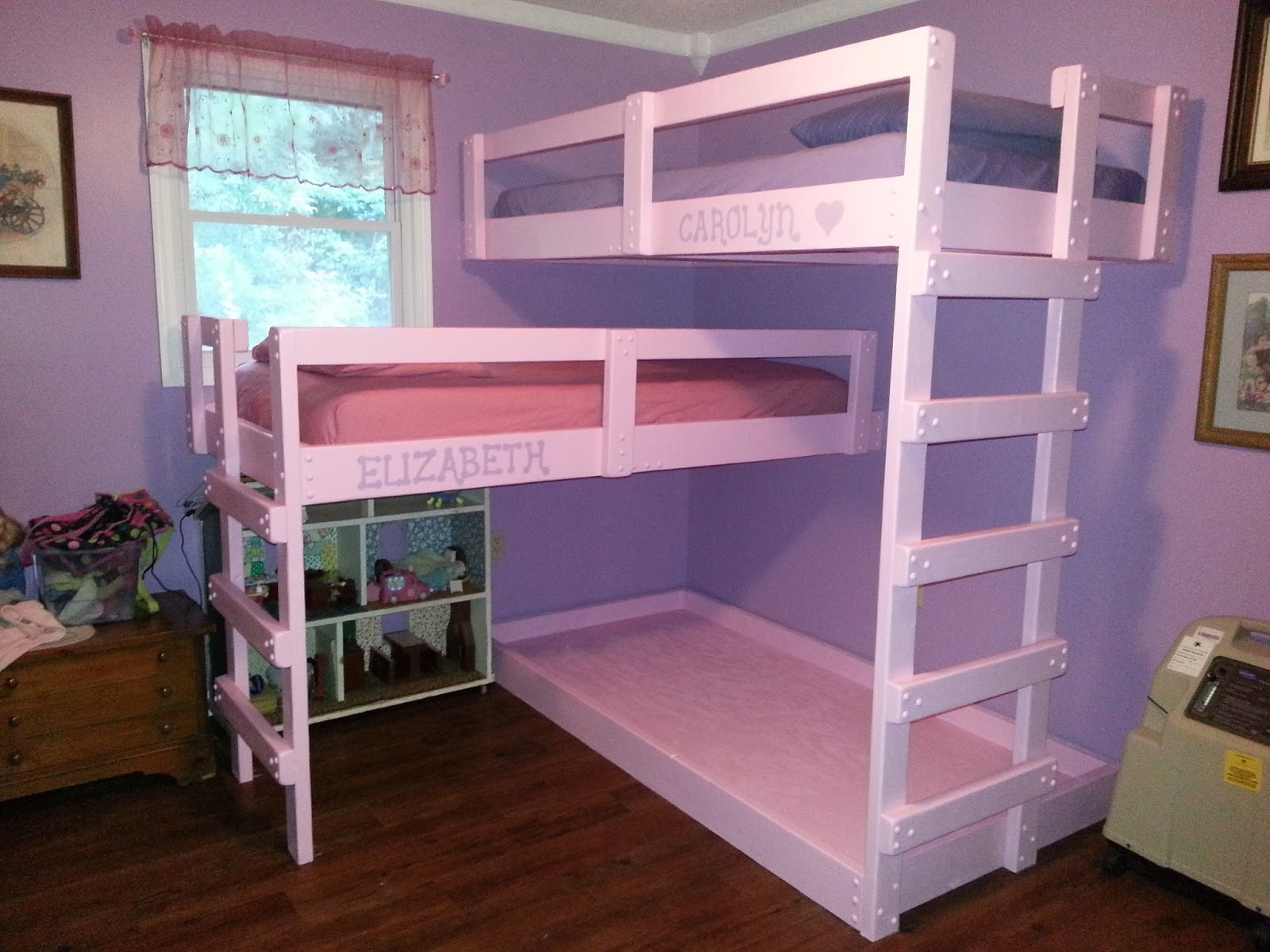 Much Bigger Than Me Triple Bunk Beds