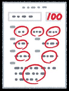 答案用紙のイラスト(100点)