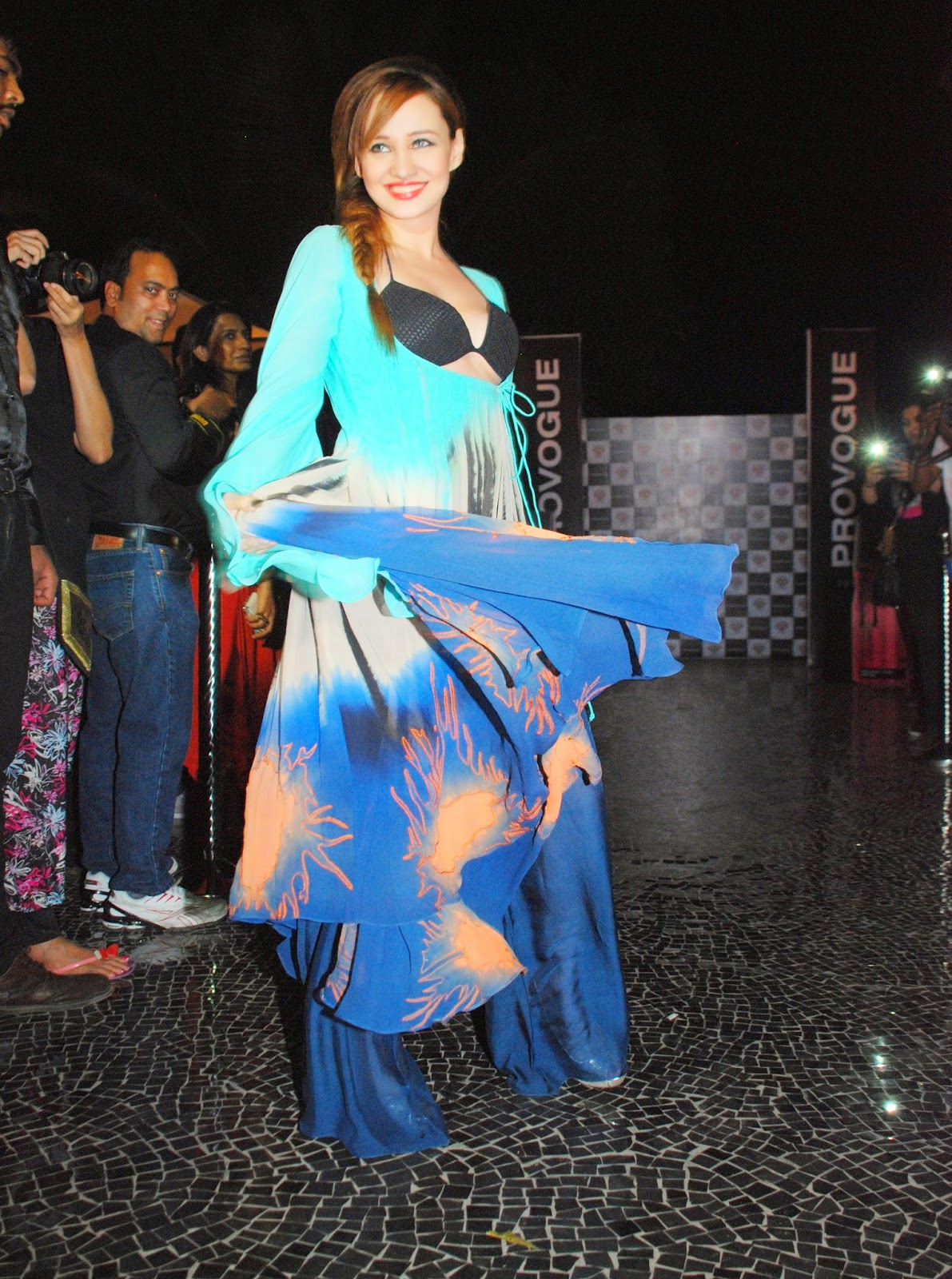 Stephanie Timmins walks the ramp for Babita Malkani