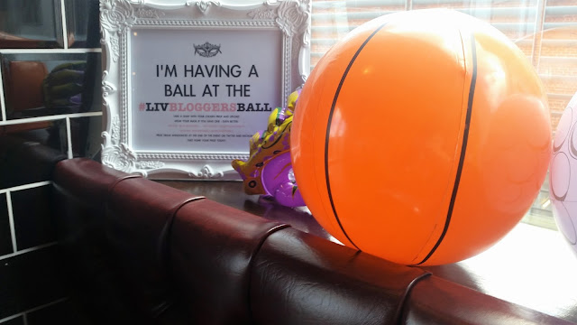 Inflatable basketball at LivBloggersBall