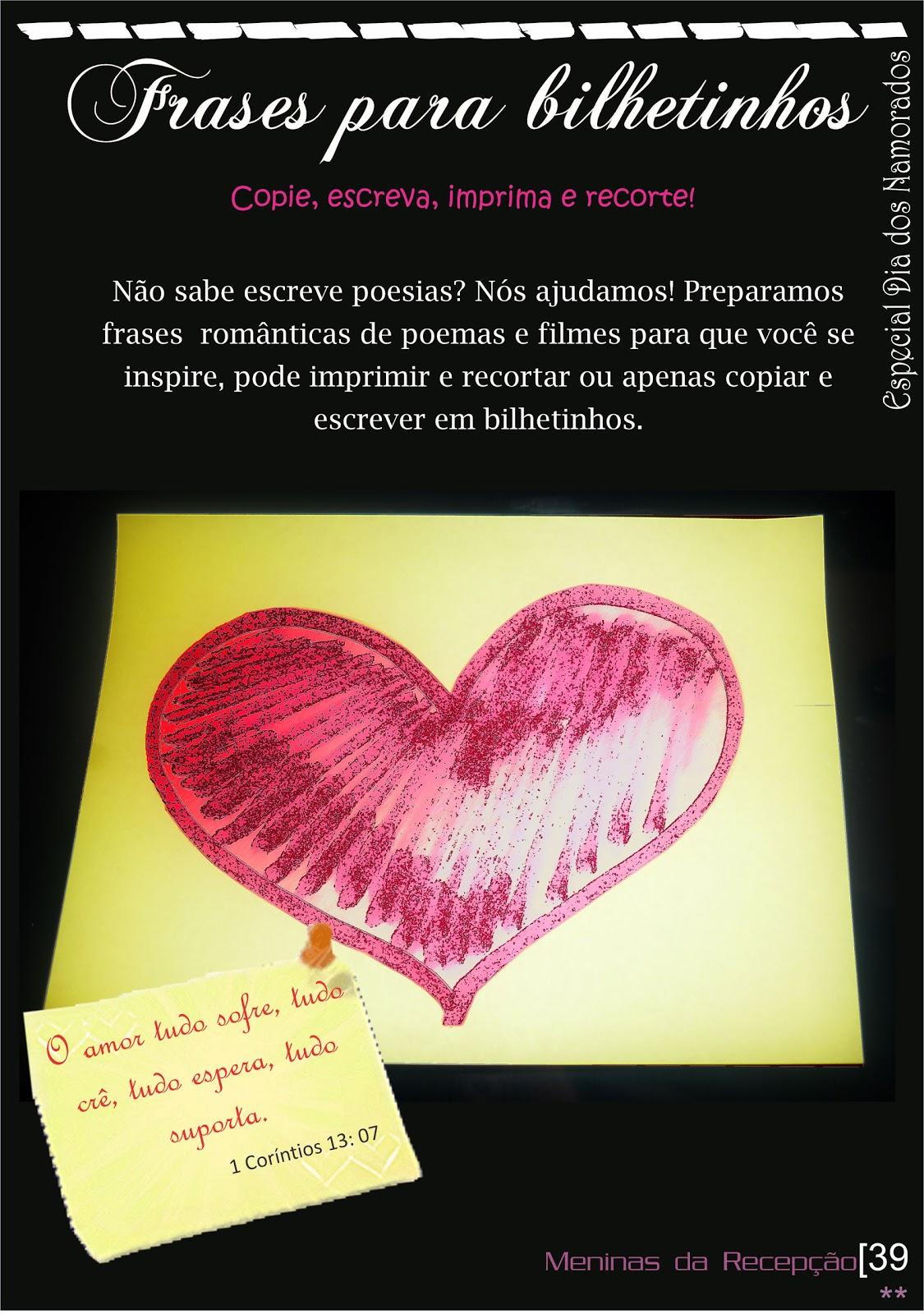 Frasesamor Frases De Amor Para Bilhetinhos Romanticos
