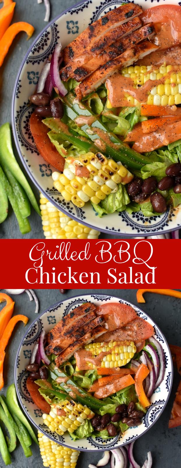 Grilled BBQ Chicken Salad recipe