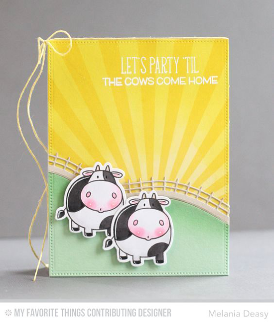 Cows Come Home Card by Melania Deasy featuring the Birdie Brown The Whole Herd stamp set and Die-namics, and the Rolling Hills Die-namics #mftstamps