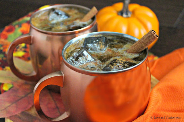 Pumpkin Pie Moscow Mule from LoveandConfections.com #PumpkinWeek