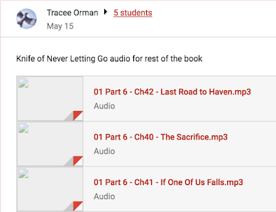 Differentiate assignments or share with students who were absent in Google Classroom. www.traceeorman.com