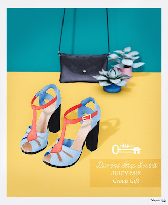 Diamond Strap Sandals Group Gift by The Secret Store
