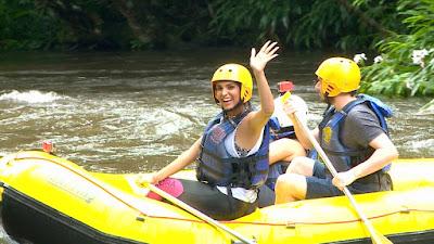 Mônica no rafting - Divulgação