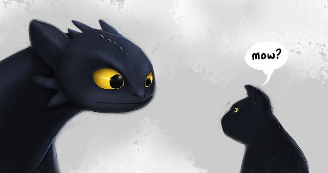 Dragons Over London  Dragon-vs-cat