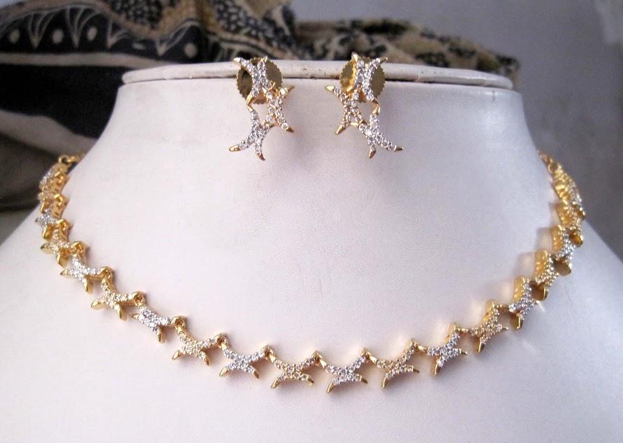S K Imitations American Diamond Necklace Set Jns 520 250 Gr Cif Price Us 23 50 Per Set