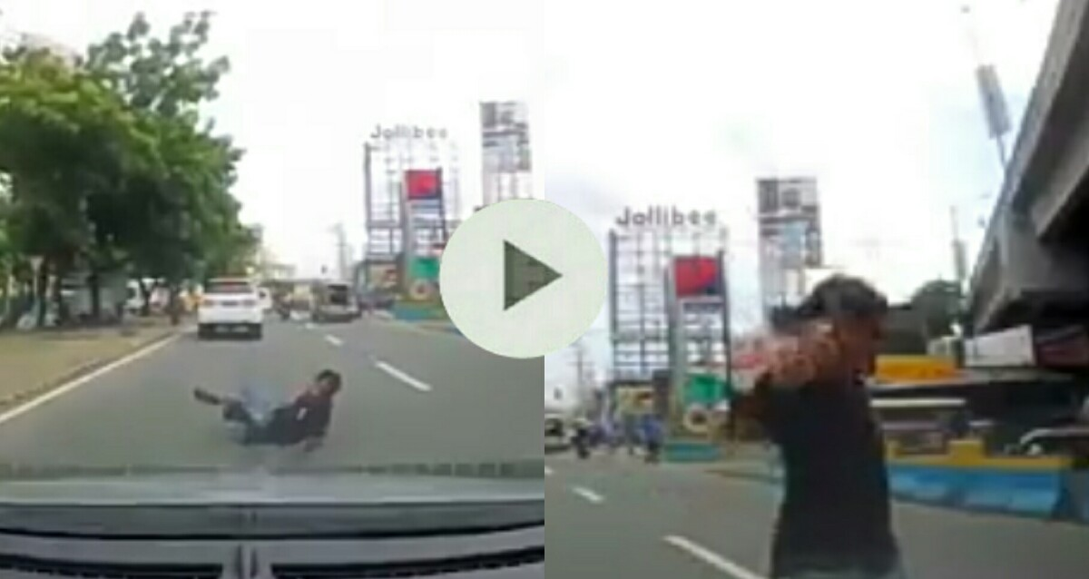 CAUGHT ON CAM: Man Faking a Vehicular Accident Gone Wrong! - Manila ...