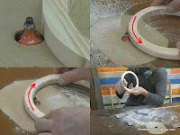 Redondear el interior y exterior del aro con la mesa fresadora. http://www.enredandonogaraxe.com