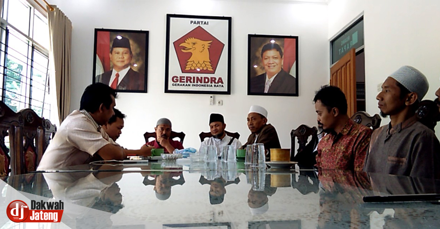 Ulama Jateng Bergerak Datangi Gerindra dan Sampaikan Haram Berkoalisi dengan Parpol Pendukung UU Ormas