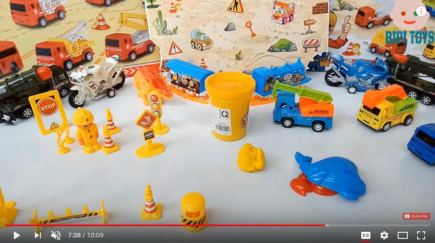 Unboxing: fire truck and construction toys - Video for children by Bipi toys