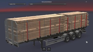 Fliegl TimberRunner trailer with 3 cargoes