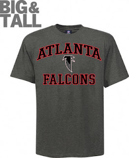 Big and Tall Atlanta Falcons Gray Logo T-Shirt