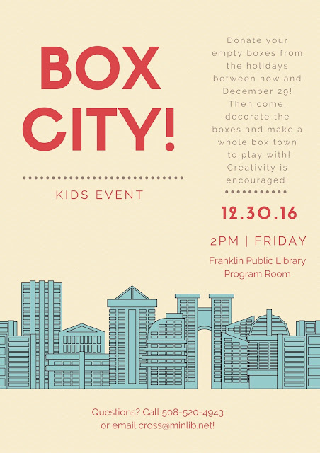 Franklin Library: Box City - Dec 30 at 2:00 PM