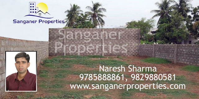 Commercial Land near Iskcon Temple Road in Sanganer