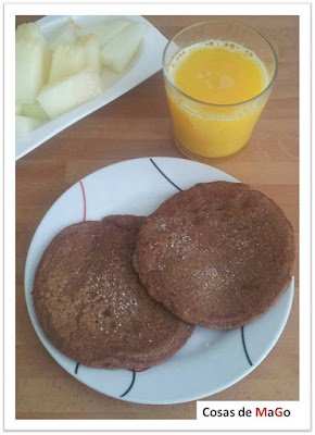 tortitas americanas sin huevo, leche ni harina