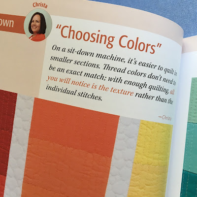 Choosing Colors for machine quilting with Angela Walters and Christa Watson