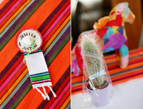 decoration mariage theme mexique cadeaux invites cactus