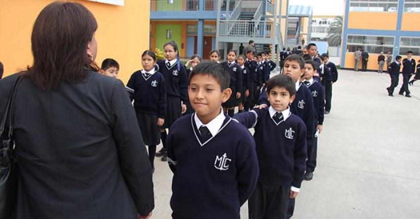 MINEDU pide que no se exponga a escolares durante formación a los rayos ultravioleta - www.minedu.gob.pe