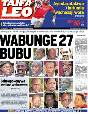11th March: Headlines Across Kenyan Newspapers This Friday!