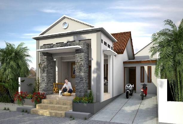 model batu alam untuk teras rumah - 25 Contoh model tiang atau pilar teras depan rumah minimalis