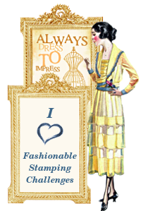 I made Top 3 at Fashionable Stamping!