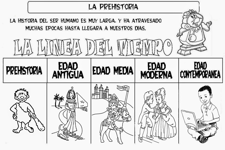 Dibujos De Prehistoria Para Ninos Para Colorear: Dibujos De La Prehistoria. Trendy Paleoltico Haciendo