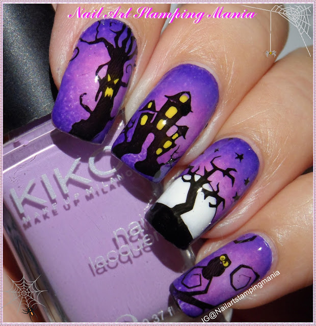 Nail Art Stamping Mania: Halloween Manicure with UberChic ...