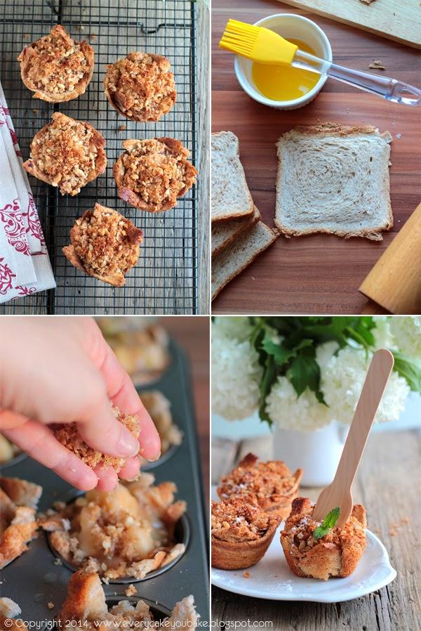 chlebowe szarlotki babeczki z rabarbarem i orzechową kruszonką