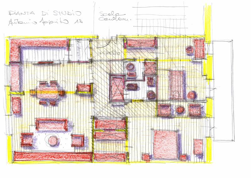 Vent 39 anni di disegni dell 39 arch antonio saporito disegni for Casa disegno